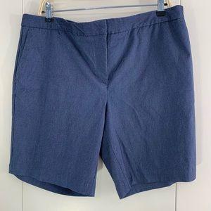 Mario Serrano 14 shorts blue tummy control stretch